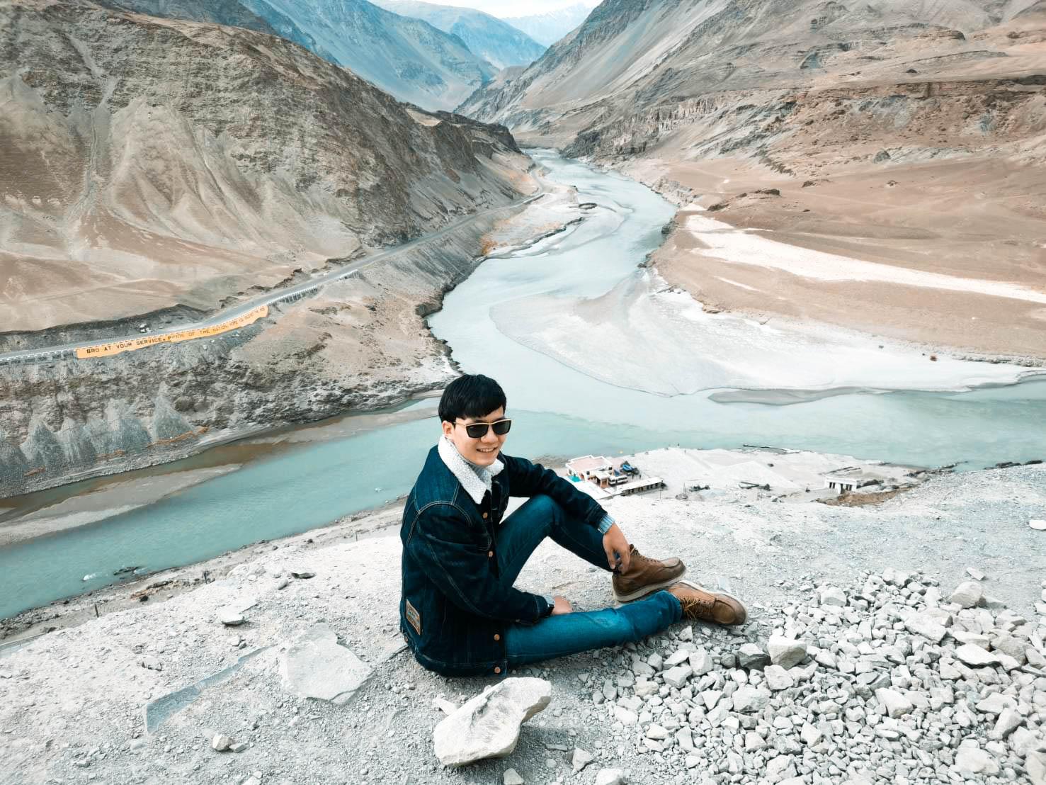 จุดตัดแม่น้ำสินธุและซันสการ ทัวร์เลห์ ลาดักห์ เที่ยวเลห์ ลาดักห์ Leh Ladakh Tour leh ladakh