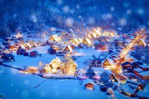 หิมะ หน้าหนาว ชิราคาวาโกะ
