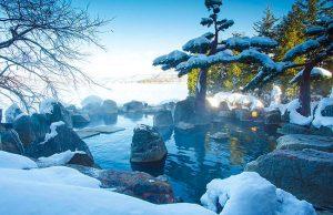 หน้าหนาว หิมะ ออนเซ็น